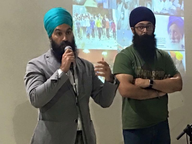 sikh leadership talk Jagmeet Singh and Moninder Singh